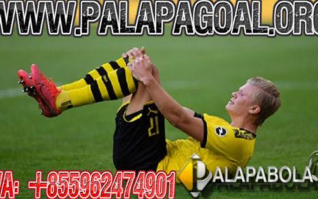 Karena Haaland Cedera Dortmund kalah.