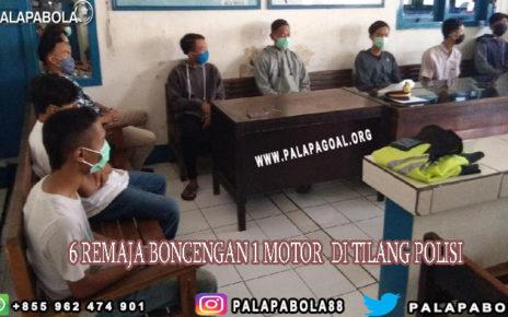 Enam Remaja Boncengan Satu Motor Di Tilang Polisi