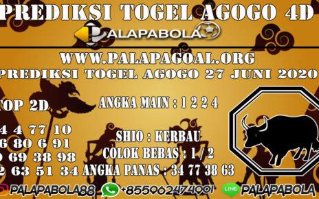 Prediksi Togel AGOGO PALAPABOLA 27 JUNI 2020