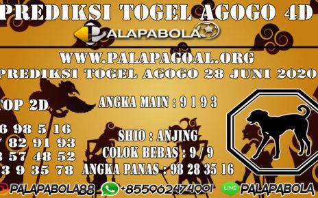 Prediksi Togel AGOGO PALAPABOLA 28 JUNI 2020