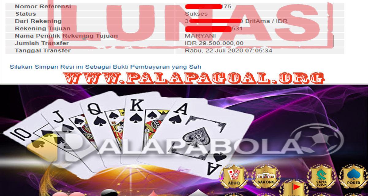 Poker Palapabola Kembali Memberikan Jackpot Bagi Member Setianya
