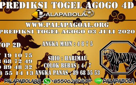 Prediksi Togel AGOGO PALAPABOLA 03 JULI 2020