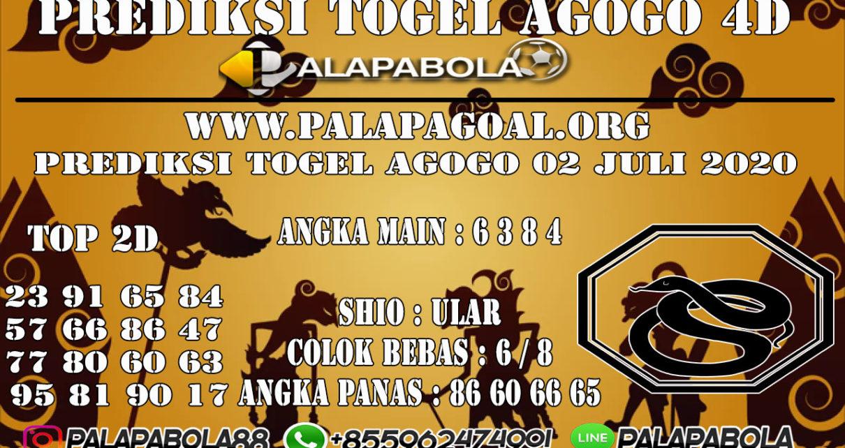 Prediksi Togel AGOGO PALAPABOLA 02 JULI 2020