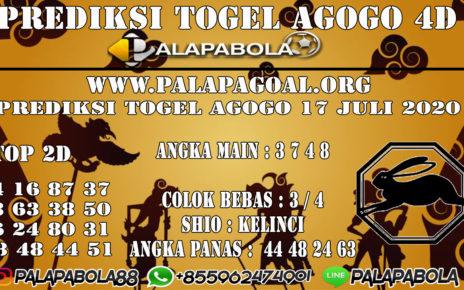 Prediksi Togel AGOGO PALAPABOLA 17 JULI 2020