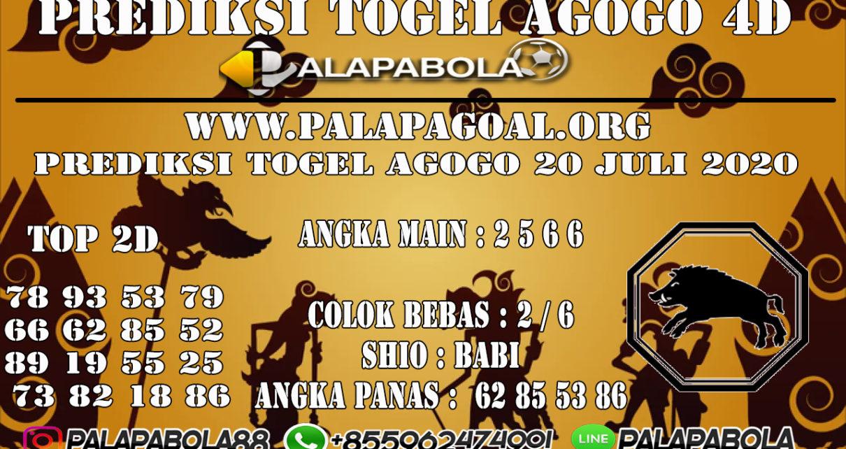 Prediksi Togel AGOGO PALAPABOLA 20 JULI 2020