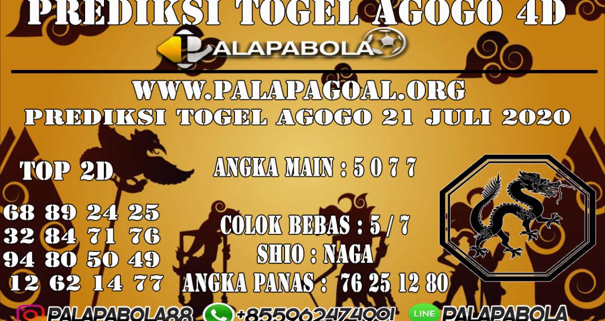 Prediksi Togel AGOGO PALAPABOLA 21 JULI 2020