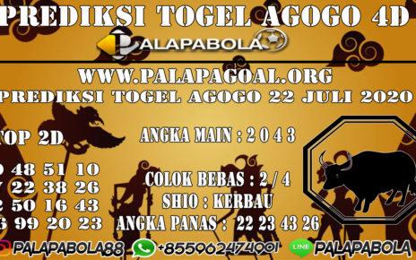 Prediksi Togel AGOGO PALAPABOLA 22 JULI 2020
