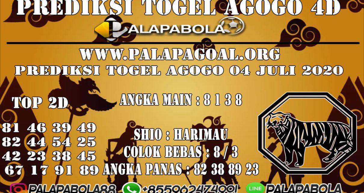 Prediksi Togel AGOGO PALAPABOLA 04 JULI 2020