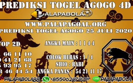 Prediksi Togel AGOGO PALAPABOLA 25 JULI 2020