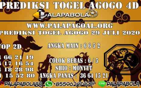 Prediksi Togel AGOGO PALAPABOLA 29 JULI 2020