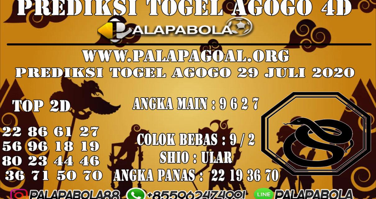 Prediksi Togel AGOGO PALAPABOLA 30 JULI 2020