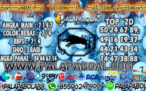 Prediksi Togel SINGAPORE PALAPABOLA 15 JULI 2020
