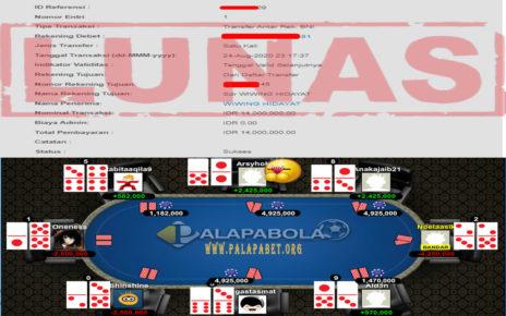 Jackpot Poker Kembali Bergoyang di Palapabola