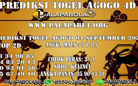 Prediksi Togel Agogo4D 06 SEPTEMBER 2020