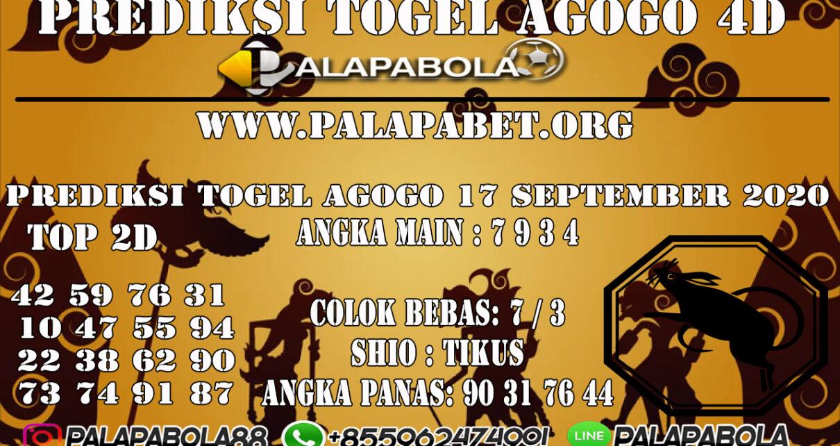 Prediksi Togel Agogo4D 17 SEPTEMBER 2020