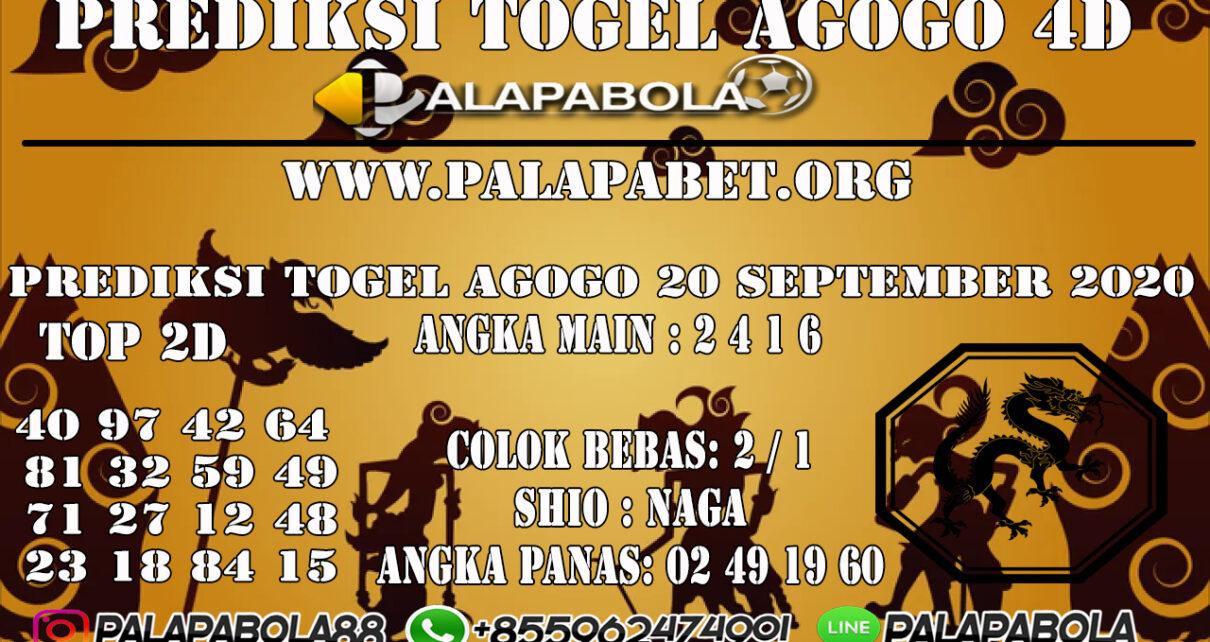 Prediksi Togel Agogo4D 20 SEPTEMBER 2020
