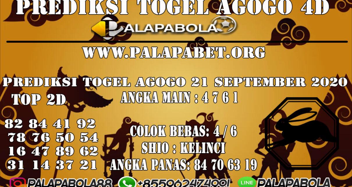 Prediksi Togel Agogo4D 21 SEPTEMBER 2020