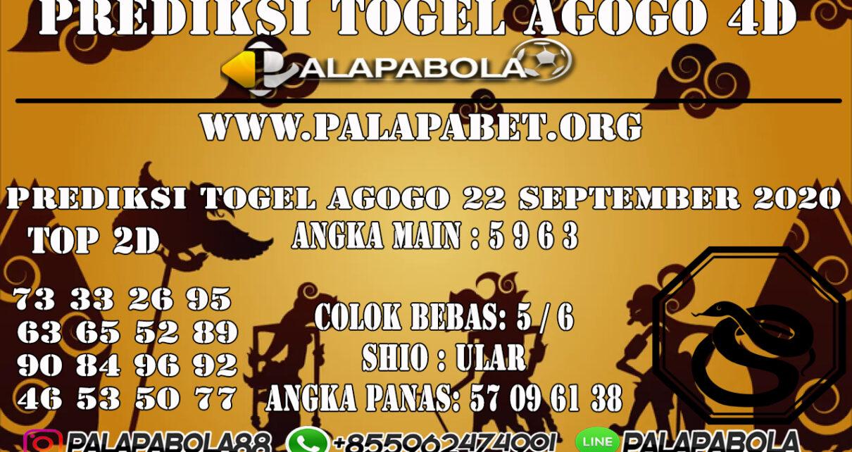 Prediksi Togel Agogo4D 22 SEPTEMBER 2020