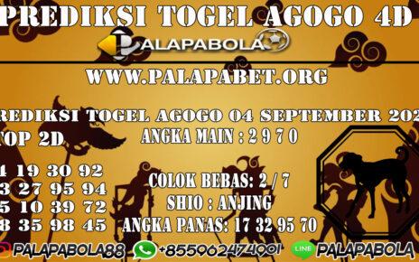 Prediksi Togel Agogo4D 07 SEPTEMBER 2020