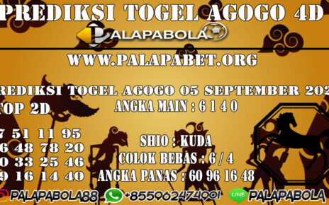 Prediksi Togel Agogo4D 05 SEPTEMBER 2020