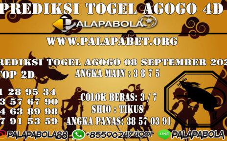 Prediksi Togel Agogo4D 08 SEPTEMBER 2020
