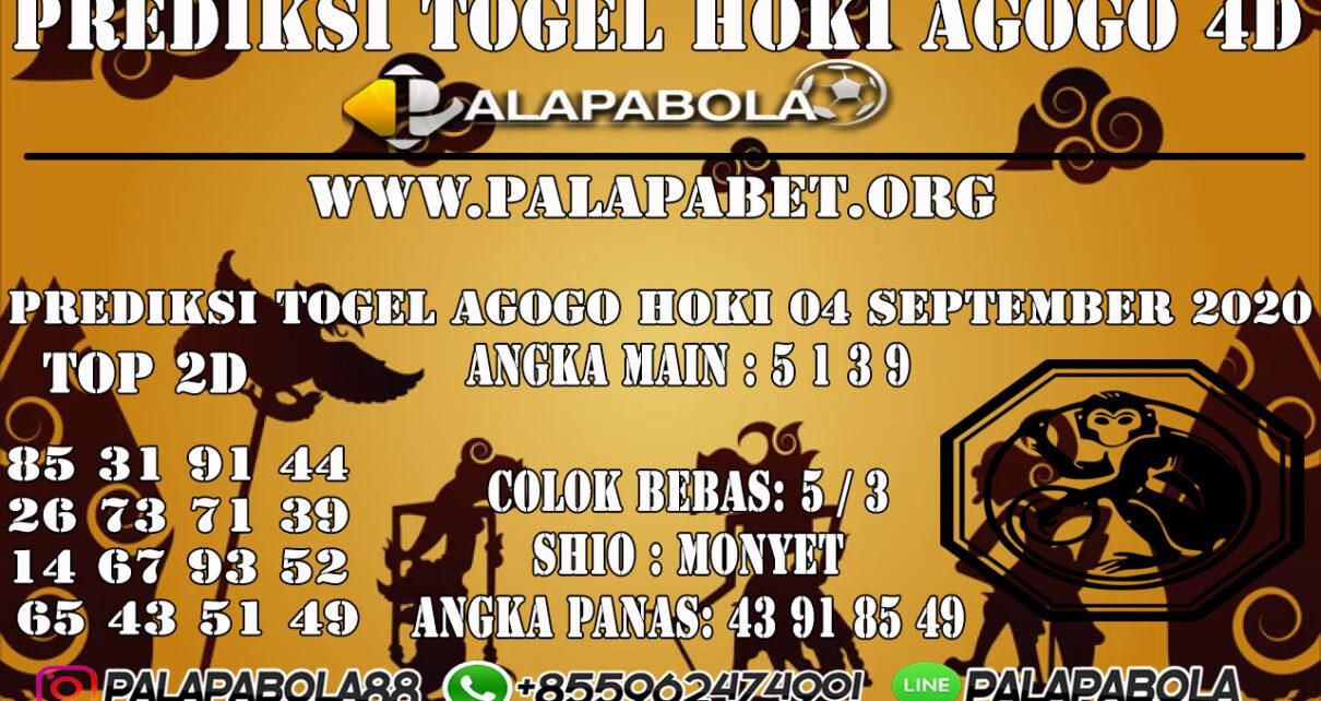 PREDIKSI TOGEL AGOGO HOKI 4D 04 SEPTEMBER 2020