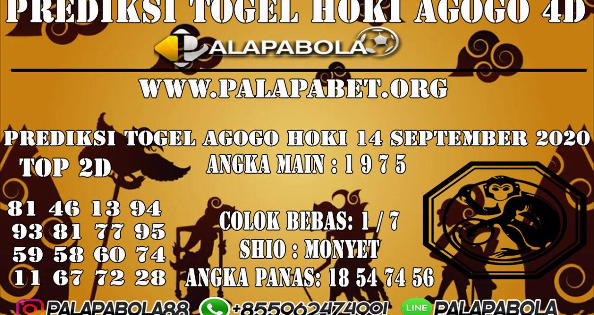 PREDIKSI TOGEL AGOGO HOKI 4D 14 SEPTEMBER 2020