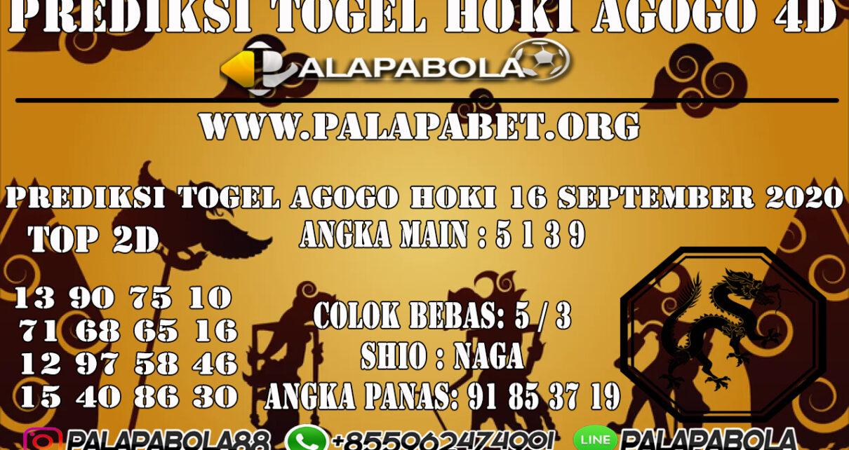 PREDIKSI TOGEL AGOGO HOKI 4D 16 SEPTEMBER 2020