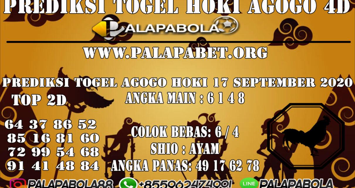 PREDIKSI TOGEL AGOGO HOKI 4D 17 SEPTEMBER 2020