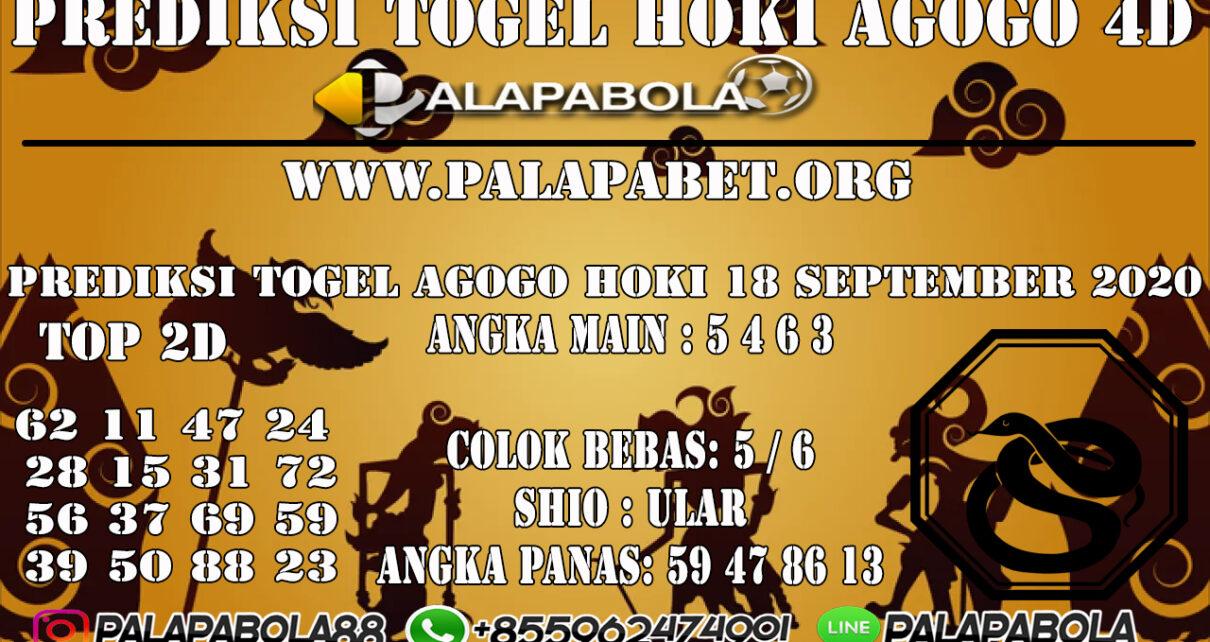 PREDIKSI TOGEL AGOGO HOKI 4D 18 SEPTEMBER 2020