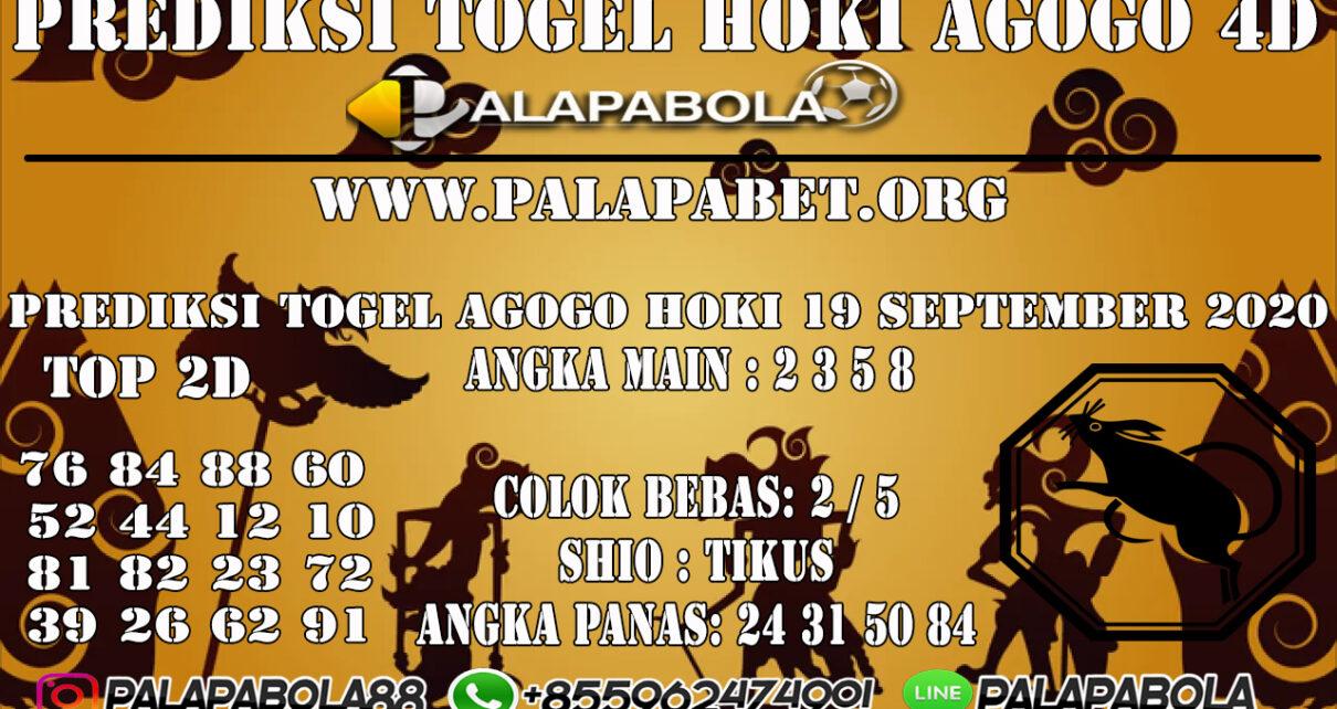 PREDIKSI TOGEL AGOGO HOKI 4D 19 SEPTEMBER 2020