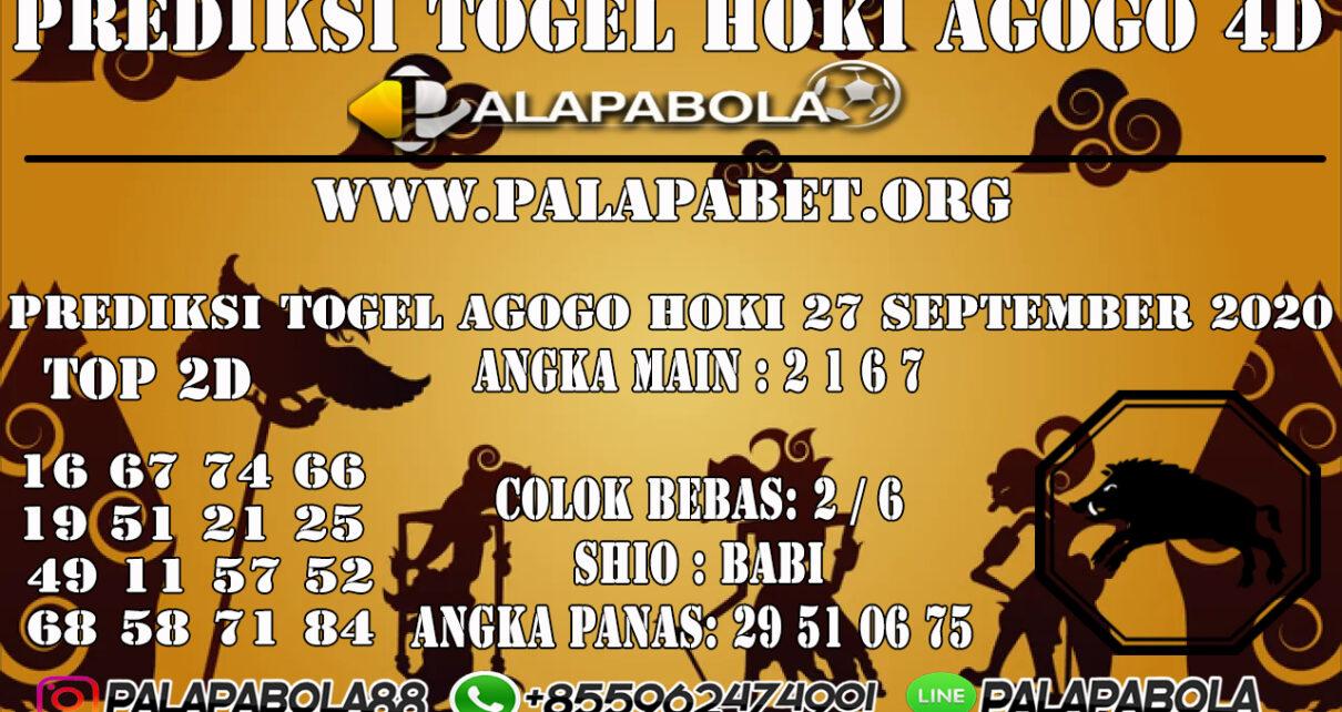 PREDIKSI TOGEL AGOGO HOKI 4D 27 SEPTEMBER 2020