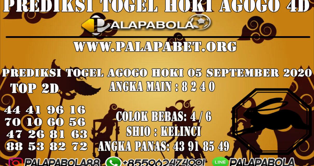 PREDIKSI TOGEL AGOGO HOKI 4D 05 SEPTEMBER 2020