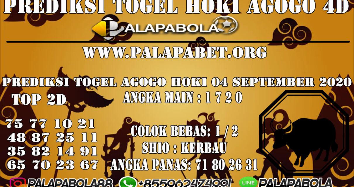PREDIKSI TOGEL AGOGO HOKI 4D 06 SEPTEMBER 2020