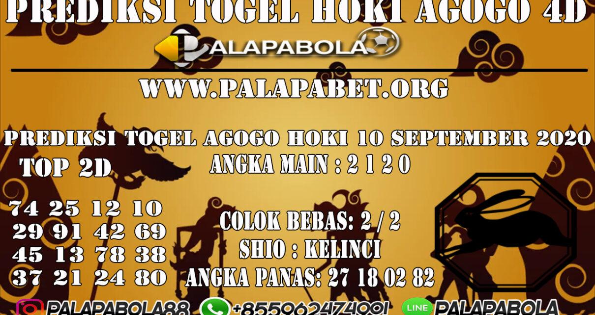PREDIKSI TOGEL AGOGO HOKI 4D 10 SEPTEMBER 2020