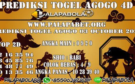 Prediksi Togel Agogo 4D 03 OCTOBER 2020