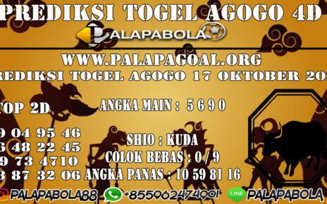 Prediksi Togel Agogo 4D 17 Oktober 2020
