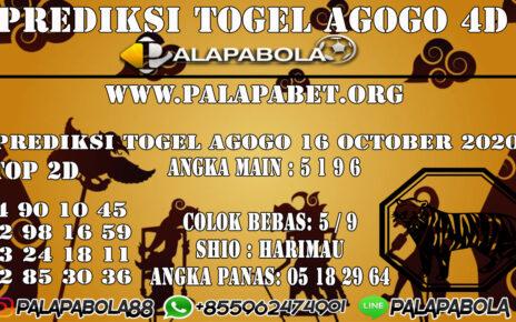 Prediksi Togel Agogo 4D 16 OCTOBER 2020