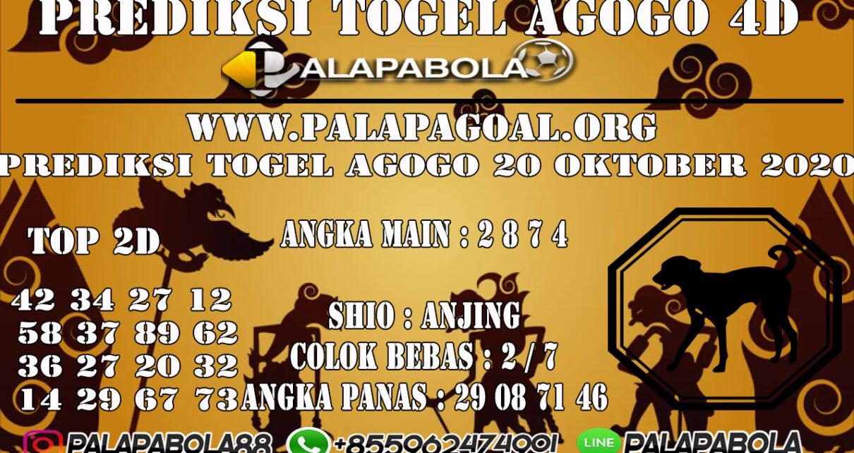 Prediksi Togel Agogo 4D 20 OCTOBER 2020