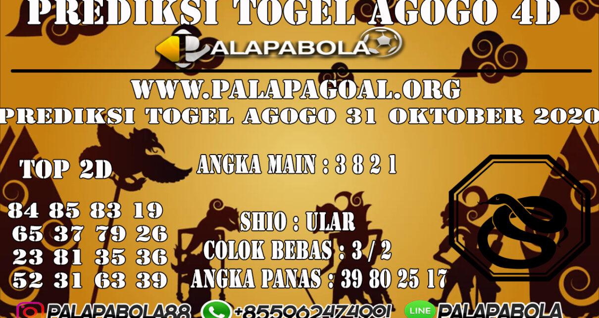 Prediksi Togel Agogo 4D 31 OCTOBER 2020