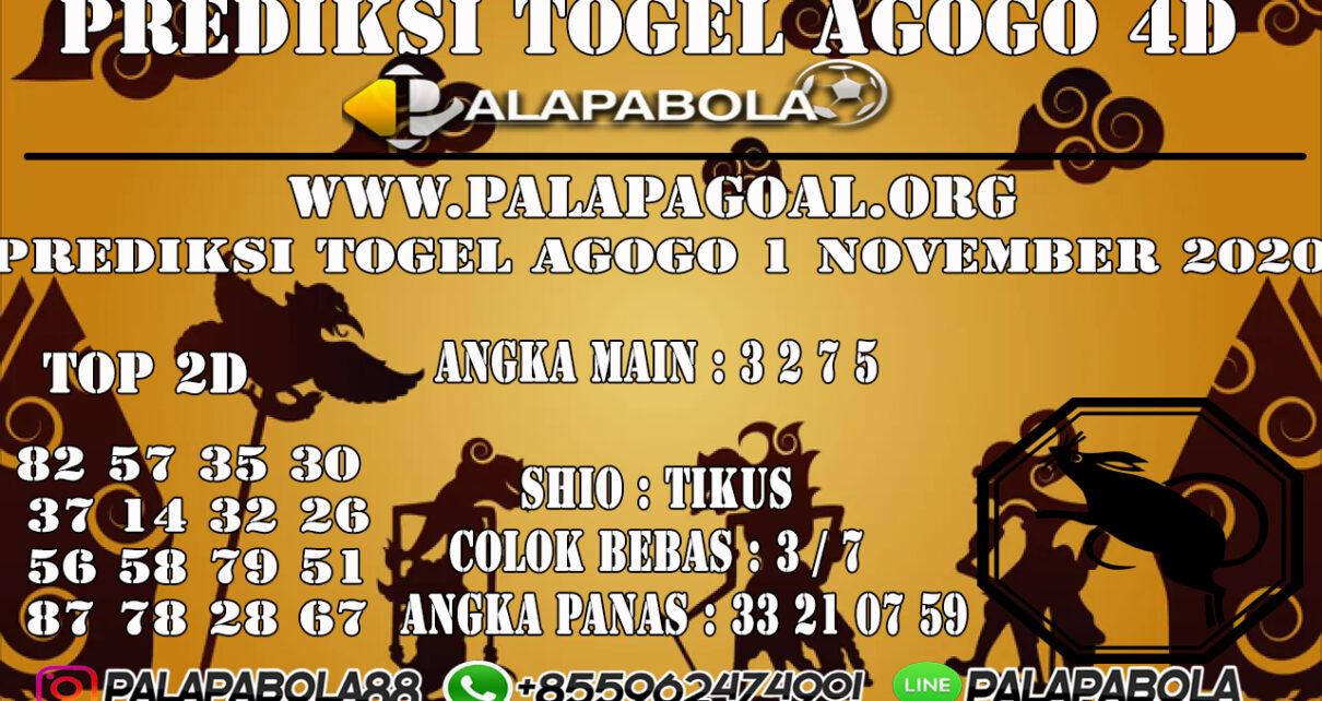 Prediksi Togel Agogo 4D 01 NOVEMBER 2020
