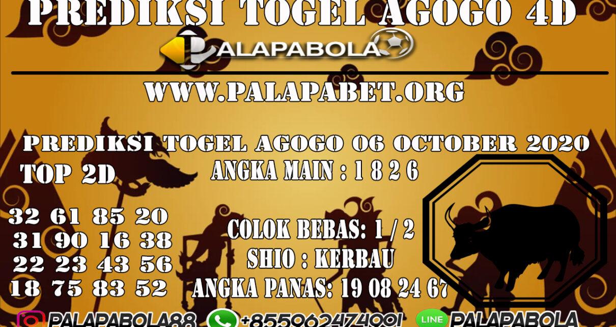Prediksi Togel Agogo 4D 06 OCTOBER 2020