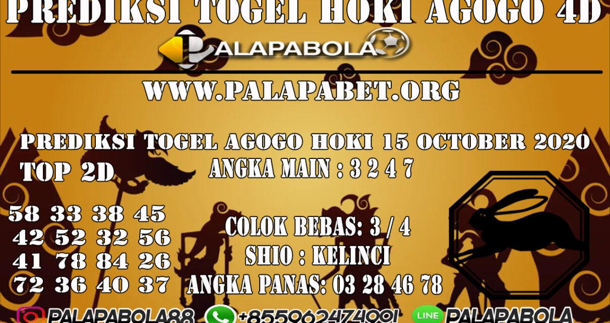 PREDIKSI TOGEL AGOGO HOKI 15 OCTOBER 2020