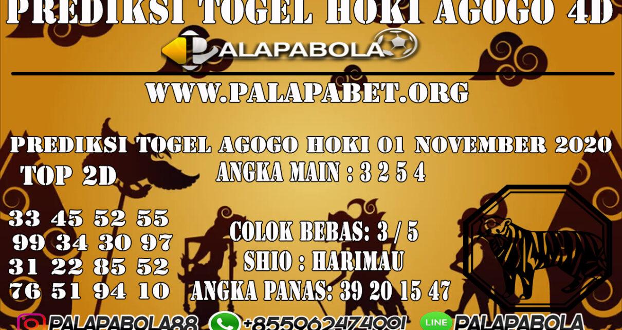 PREDIKSI TOGEL AGOGO HOKI 01 NOVEMBER 2020