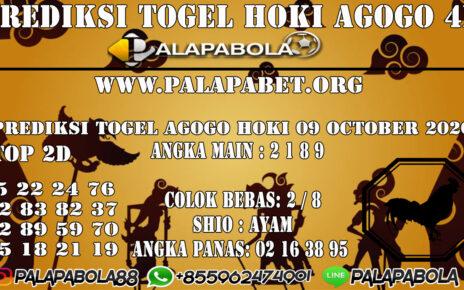 PREDIKSI TOGEL AGOGO HOKI 09 OCTOBER 2020