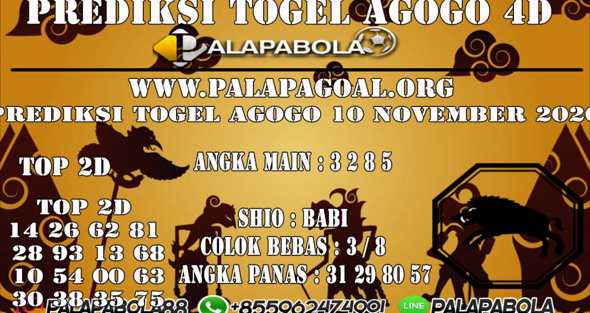 PREDIKSI TOGEL AGOGO4D 10 NOVEMBER 2020