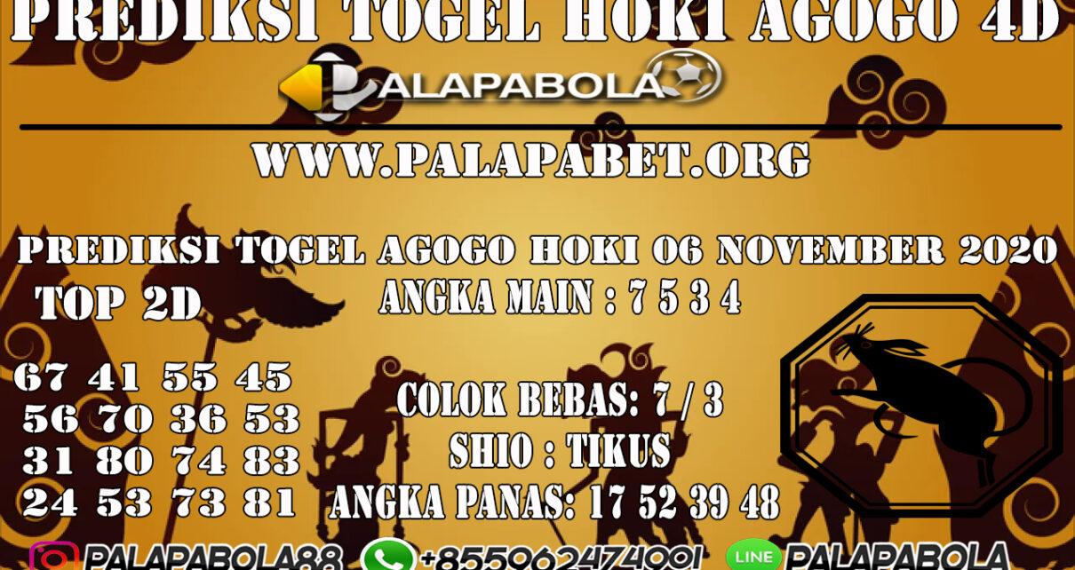 PREDIKSI TOGEL AGOGO HOKI 06 NOVEMBER 2020