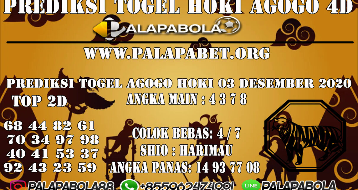 PREDIKSI TOGEL AGOGO HOKI 03 DESEMBER 2020